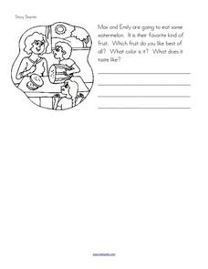 Story Starter: Fruit That You Like Worksheet