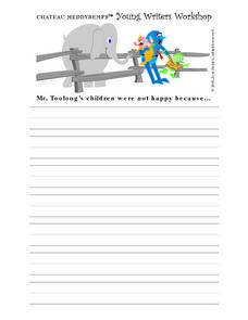 Story Starters Worksheets 2nd Grade Writing