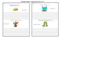 Story Starters: Description Worksheet