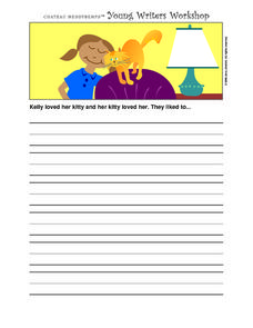 Story Starters-- Kelly And Her Kitty Worksheet