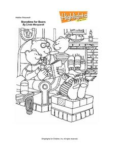 Story Time for Bears Worksheet