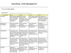 Story Writng: To Kill a Mockingbird: B1 Lesson Plan