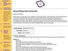 Storytelling Electronically Lesson Plan