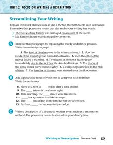 Streamlining Your Writing Worksheet