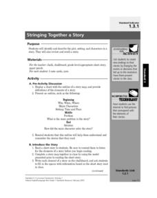 Stringing Together a Story Lesson Plan