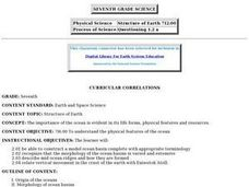 Structure of Earth Lesson Plan