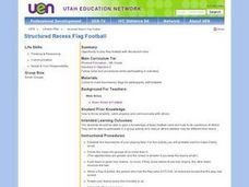 Structured Recess Flag Football Lesson Plan