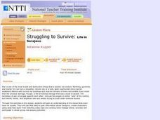Struggling To Survive: Life In Sarajevo Lesson Plan