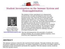 Student Investigation on the Immune System and Hemeagglutination Lesson Plan