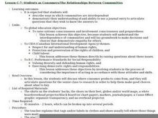 Students as Consumers: The Relationships Between Communities Lesson Plan