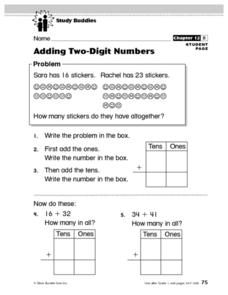 Study Buddies: Adding Two-Digit Numbers Lesson Plan
