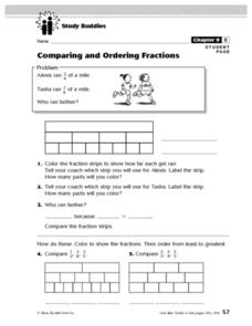 Study Buddies: Comparing and Ordering Fractions Lesson Plan