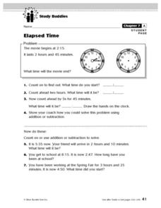Study Buddies: Elapsed Time Lesson Plan