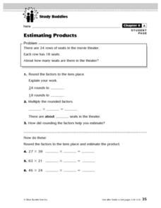Study Buddies- Estimating Products Lesson Plan