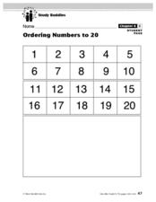 Study Buddies- Ordering Numbers Lesson Plan