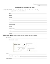 "Study Guide: ""The Gift of the Magi"" Worksheet"