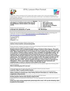 Study of New York City Lesson Plan