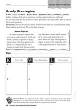 Study Strategies: KWL Chart Worksheet