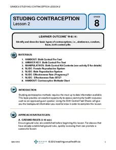 Studying Contraception (Lesson 2) Lesson Plan