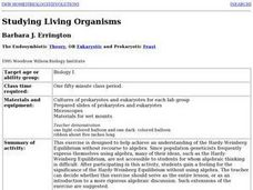 Studying Living Organisms Lesson Plan
