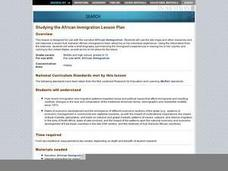 Studying the African Immigration Lesson Plan Lesson Plan