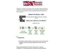 Styles in Context: Is it Music? Lesson Plan