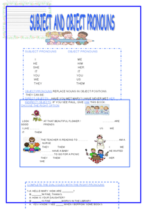 subject and object pronouns 3rd 5th grade worksheet lesson planet. Black Bedroom Furniture Sets. Home Design Ideas