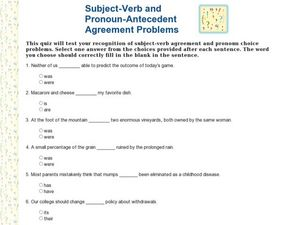 Printables Pronoun Antecedent Agreement Worksheets subject verb and pronoun antecedent agreement problems 2nd 4th worksheet