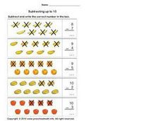 Subtracting up to 10, #4 Worksheet