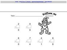 math worksheet : subtracting with zero 3rd  4th grade worksheet  lesson pla  : Subtraction With Zeros Worksheet