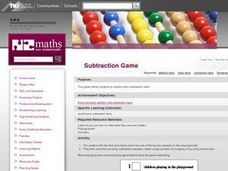 Subtraction Game Lesson Plan