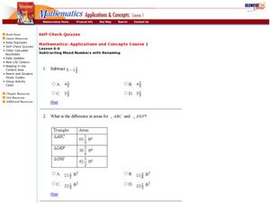 Subtraction Of Fractions Worksheet