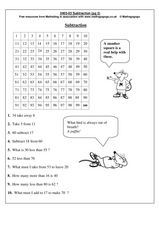 Subtraction Practice Worksheet
