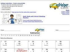 Subtraction Review Worksheet