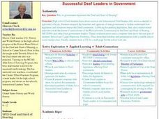 Successful Deaf Leaders in Government Lesson Plan