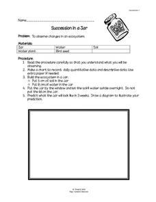 Succession in a Jar Lesson Plan