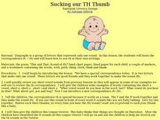 Sucking our TH Thumb Lesson Plan
