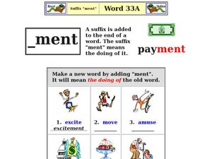 """Suffix """"ment"""" Worksheet"""