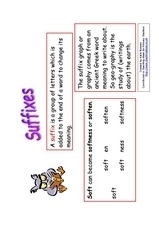 Suffixes and Prefixes Worksheet