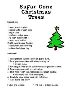 Sugar Cone Christmas Trees Lesson Plan