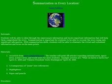 Summarization in Every Location! Lesson Plan