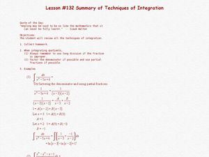 Summary of Techniques of Integration Lesson Plan