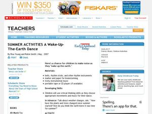 Summer Activities A Wake-Up-The-Earth Dance Lesson Plan