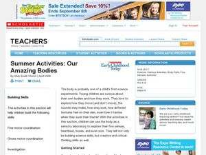 Summer Activities: Our Amazing Bodies Lesson Plan