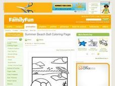 Summer Beach Ball Coloring Page Lesson Plan