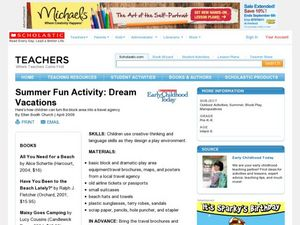 Summer Fun Activity: Dream Vacations Lesson Plan