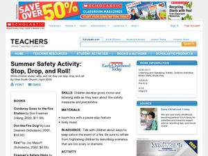 Summer Safety Activity: Stop, Drop, and Roll! Lesson Plan