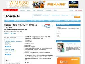 Summer Safety Activity: Time to Tidy Up Lesson Plan