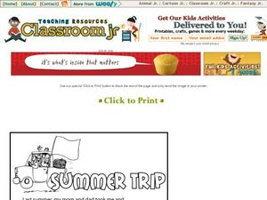 Summer Trip Worksheet