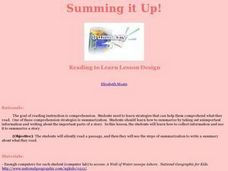 Summing it Up Lesson Plan